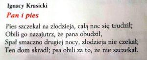 lekcje polskiego11 2 300x123 - Bajki w ujęciu literackim. Klasa 5. Bajki Ignacego Krasickiego FILM