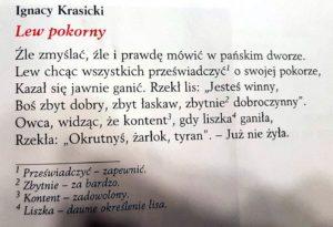 lekcje polskiego12 2 300x205 - Bajki w ujęciu literackim. Klasa 5. Bajki Ignacego Krasickiego FILM
