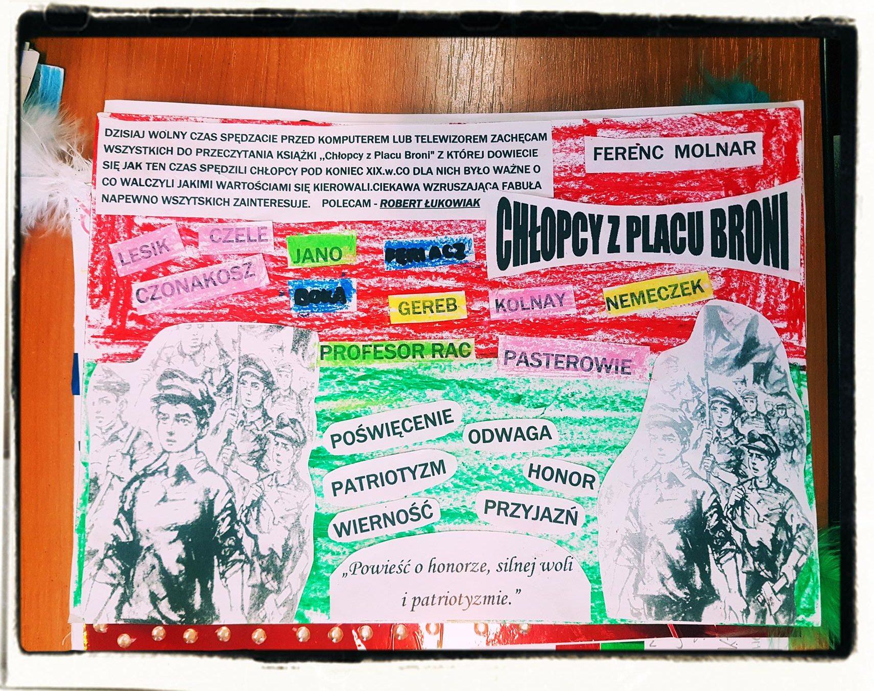 """lekcje polskiego9 e1557958373905 - """"Chłopcy z Placu Broni"""" Ferenc Molnar - recenzje uczniów+ plakaty FILM"""